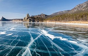 Baikal in the winter