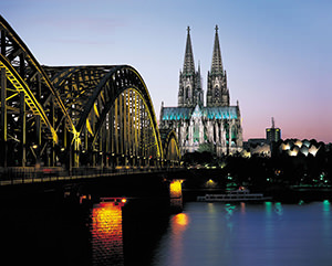 Beautiful evening Cologne