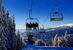 Bukovel ski elevator