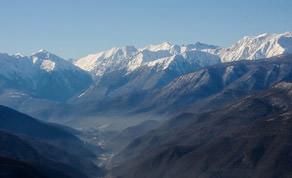 Caucasus Mountains in Sochi