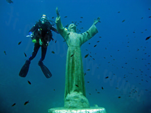 Christ of the Abyss. Genoa attraction