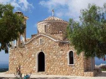 Church. The resort of Protaras