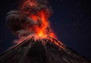 Etna at night