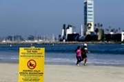 In Los Angeles, temporarily closed popular beaches