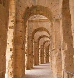 Internal corridors of the Colosseum