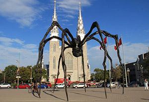 Monument spider, Ottawa, Canada