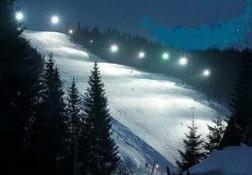 Night ski track