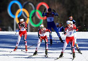 Norwegian skiers