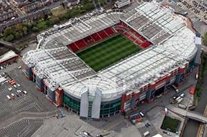Olt Trafford. Known football arena of Manchester