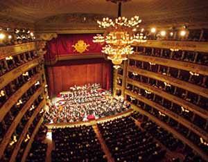 Opera theater of the La Scala