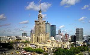 Palace of culture and sciences. Warsaw.