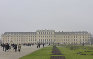 Schönbrunn Palace with the park