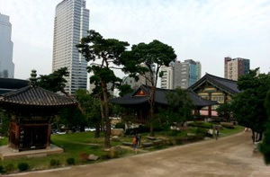 Seoul. Photos attractions Bongeunsa