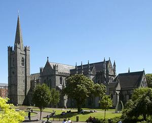 Sight Saint Patrick's cathedral. Ireland