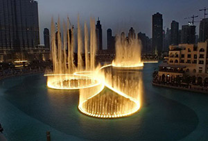 Singing Fountain in Dubai