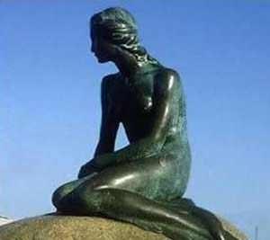 Statue of the Little Mermaid. Copenhagen