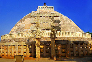Stupa in Sanchi village, India