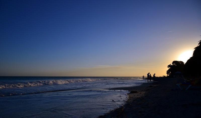Sunset from the beach in Varadero