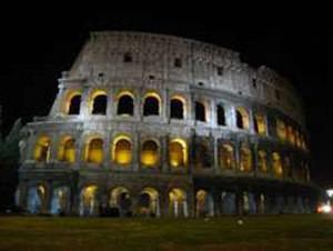 The Colosseum in night