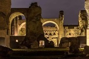 The Roman thermae of Caracalla are open for tourists at night
