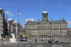 The Royal Palace in Amsterdam, The Netherlands