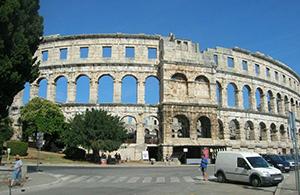 The amphitheater in Pula, Croatia
