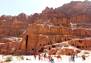 The ancient city of Petra in Jordan