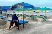 The beaches of Phuket have unusual deckchairs