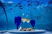The hotel opened with an underwater restaurant in the Maldives