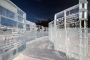 "The ""ice library"" on the shore of Lake Baikal"