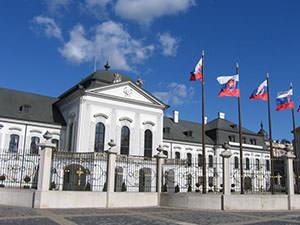 The presidential palace in Bratislava