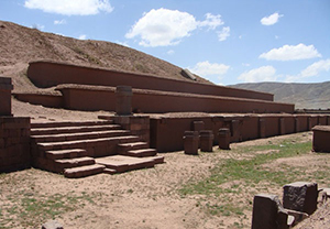 The ruins of Tiwanaku, Bolivia