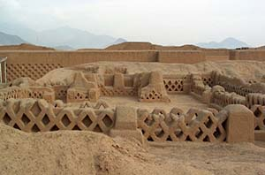 The ruins of the city of Chan Chan, Peru