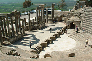 The ruins of the city of Dougga, Tunisia