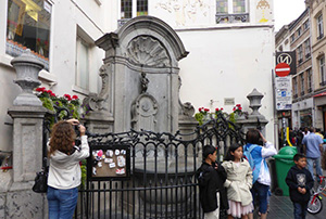 The sculpture Manneken Pis