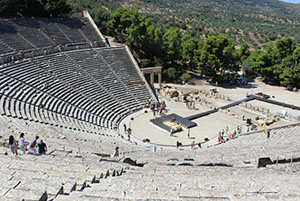 The theater in Epidaurus, Greece