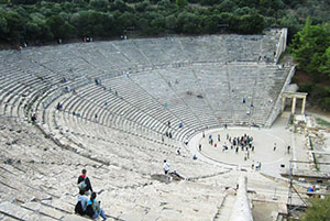 The theater in Epidaurus