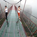 The world's longest glass bridge over a chasm opened in China