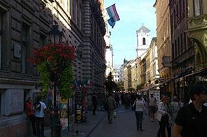 Vaci utca, Budapest, Hungary