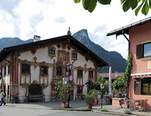 Village of Oberammergau. Bavaria