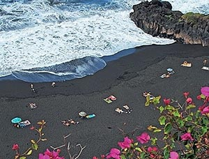black beach of Tenerife