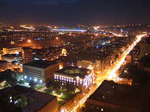 night Belgrade. Serbia