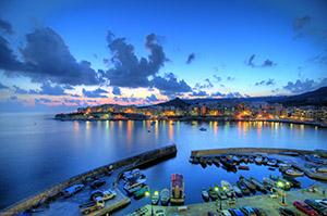 night view in Malta