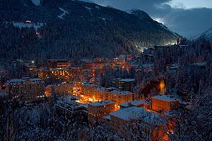night view of Bad Gastein