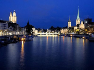 night view of Switzerland
