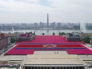 parade in Northern Korea