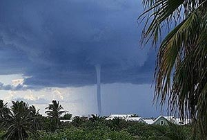 storm in the Cayman Islands