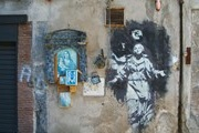 In Italy, saved from destruction by a single work of Banksy
