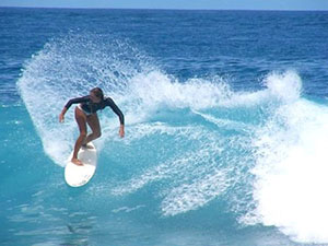 surfing to Bali