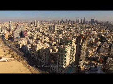 Tel Aviv from the air 4K ultra HD